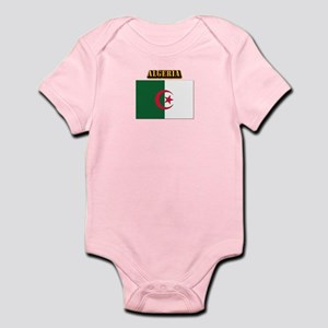 Flag of Algeria with Text Infant Bodysuit