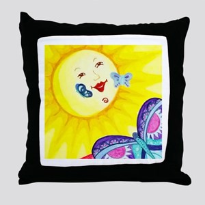 Butterfly Sun Throw Pillow