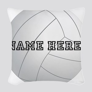 Personalized Volleyball Woven Throw Pillow