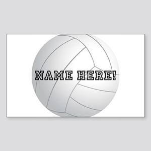 Personalized Volleyball Sticker (Rectangle)
