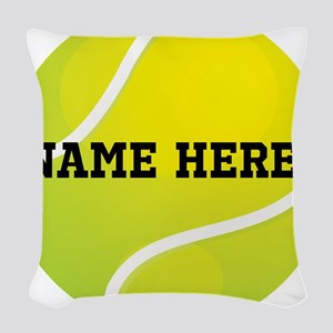 Personalized Tennis Ball Woven Throw Pillow