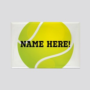 Personalized Tennis Ball Rectangle Magnet