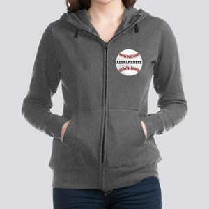 Personalized Baseball Red/White Zip Hoodie
