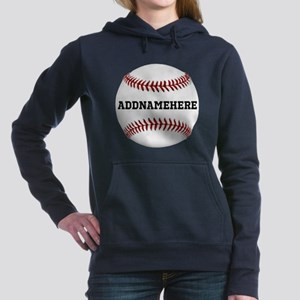 Personalized Baseball Red/White Hooded Sweatshirt