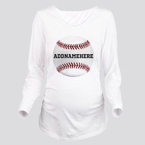 Personalized Baseball Red/White Long Sleeve Matern