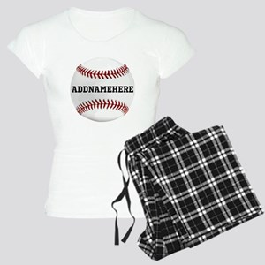 Personalized Baseball Red/White Women's Light Paja