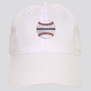 Personalized Baseball Red/White Cap