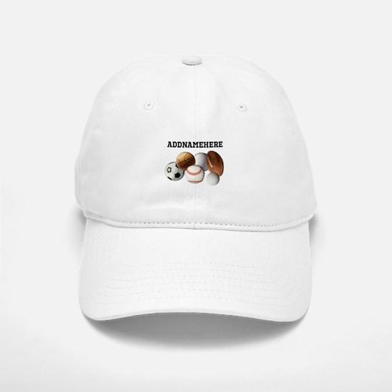 Sports Balls, Custom Name Hat