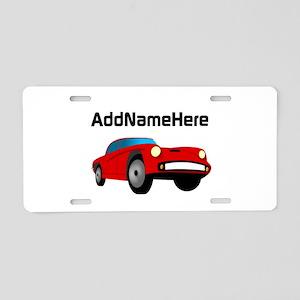 Sports Car, Custom Name Aluminum License Plate