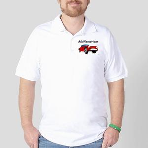 Sports Car, Custom Name Golf Shirt