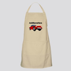 Sports Car, Custom Name Apron
