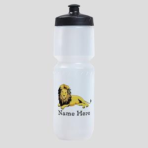 Personalized Lion Sports Bottle