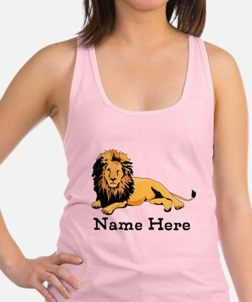 Personalized Lion Racerback Tank Top