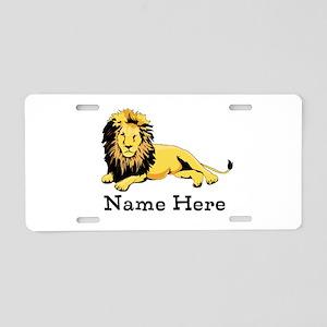 Personalized Lion Aluminum License Plate