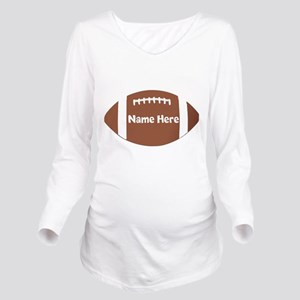 Personalized Football Ball Long Sleeve Maternity T
