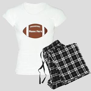 Personalized Football Ball Women's Light Pajamas