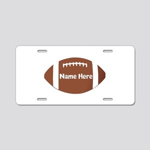 Personalized Football Ball Aluminum License Plate