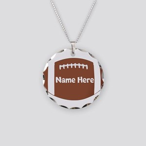 Personalized Football Ball Necklace Circle Charm