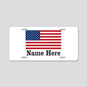 Personalized American Flag Aluminum License Plate