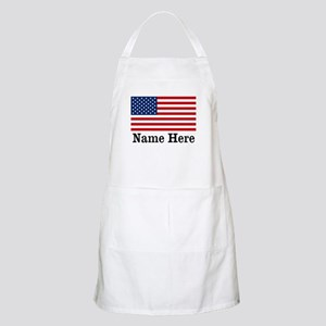 Personalized American Flag Apron