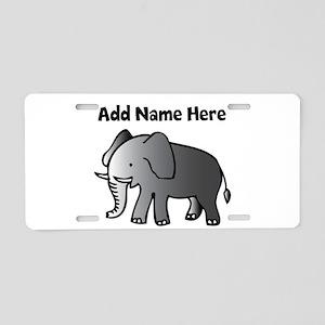 Personalized Elephant Aluminum License Plate