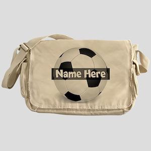 Personalized Soccer Ball Messenger Bag
