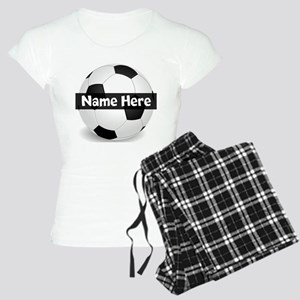 Personalized Soccer Ball Women's Light Pajamas