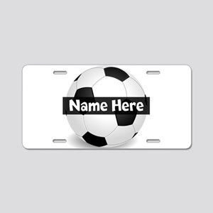 Personalized Soccer Ball Aluminum License Plate