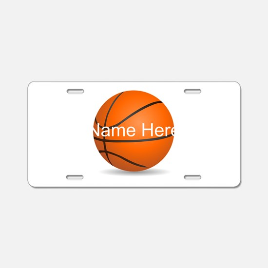 Personalized Basketball Aluminum License Plate