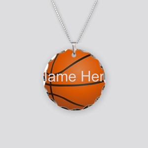 Personalized Basketball Ball Necklace Circle Charm