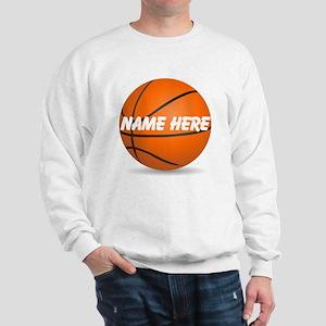 Personalized Basketball Ball Sweatshirt