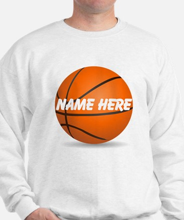 Personalized Basketball Ball Sweatshirt