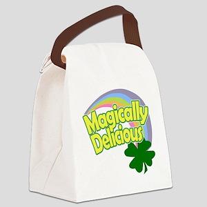 Magically Delicious Pastel Rainbo Canvas Lunch Bag