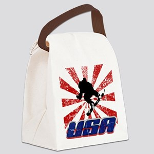 usa snowboard Canvas Lunch Bag