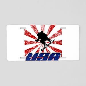 usa snowboard Aluminum License Plate