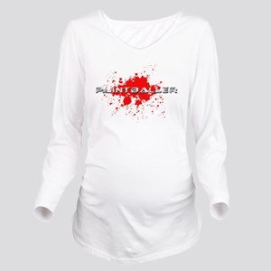 paintball paint baller Long Sleeve Maternity T-Shi