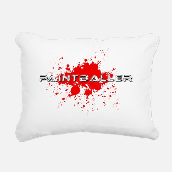 paintball paint baller Rectangular Canvas Pillow