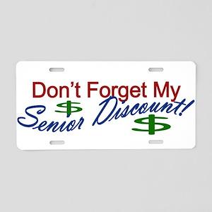 senior discount Aluminum License Plate