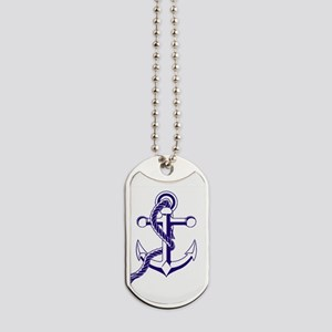 Old Style Anchor Dog Tags