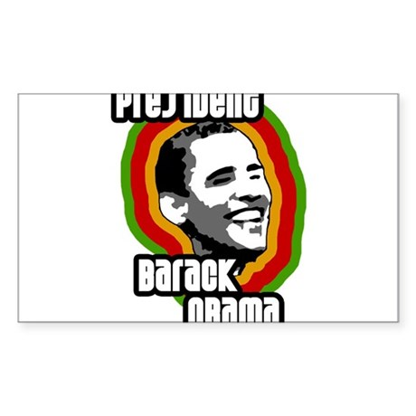 presbarackobama-solo Sticker (Rectangle)