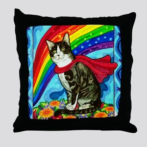 The Mighty Tux Throw Pillow