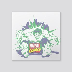 "Hulk White Square Sticker 3"" x 3"""