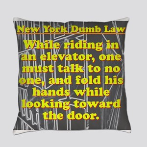New York Dumb Law #2 Everyday Pillow