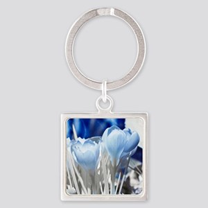 Crocus in infrared sunlight Square Keychain