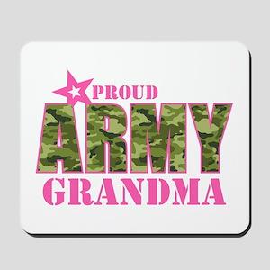 Camo Proud Army Grandma Mousepad