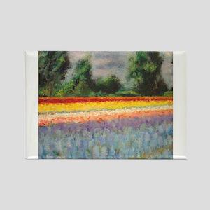 Holland Flowers Windmill Landscape Triptych Panel