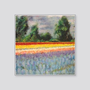 Holland Flowers Windmill Landscape Triptych Panel