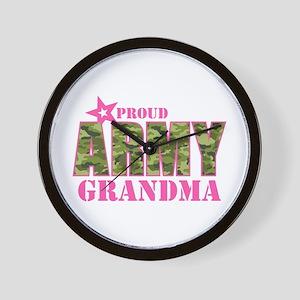 Camo Proud Army Grandma Wall Clock