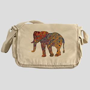 Artisan Elephant Print Messenger Bag