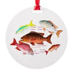 5 snappers Ornament